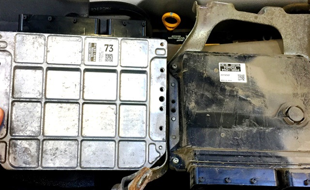 LEXUS RX350 снижение мощности двигателя - монтаж электронного блока управления (ЭБУ) двигателя